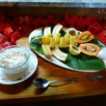 Breakfast:  selection of fresh fruits