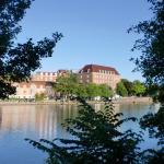 Trollhettan kanal med Swania hotell