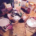 Colazione e torta preparata da Claudia!!