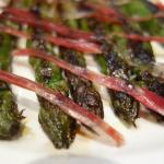 Green asparagus with Jamon Iberco
