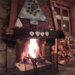 un beau feu de foyer pour nous réchauffer