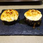 Black rice and goat-cheese from the oven
