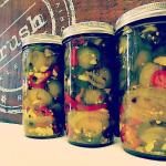 house-made spicy sweet pickles