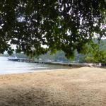 Vista do deque e da praia