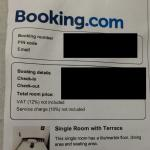 False advertising on Booking.com by this hotel, Single Room with Terrace, there are no terrace,