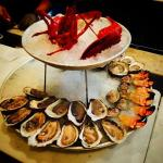 this amazing seafood tower is only $65 during Happy Hour!