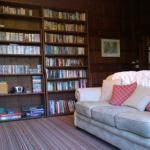secret bookcase door to bedroom