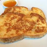 French toast with maple syrup brunch
