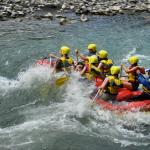 Rafting on a river Aragvi