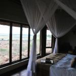 Ausblick aus dem Chalet auf den Chobe Fluss