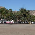 The air strip in front of the hotel