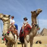 Riding camels on the Giza Plateua - brilliant.