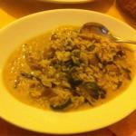 Risotto funghi zucchine radicchio e gorgonzola....piatto delicato e speciale ... Consigliato ! T