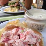 Lobster roll and clam chowder.... Wow, can't wait for next summer