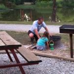 Each cabin had a nice picnic table, firepit and grill, we put all to good use