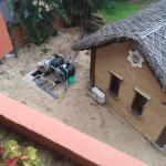 "Noisy water pump next to the so called ""garden view"" block of rooms and a bungalow."