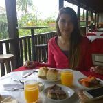 Área externa do café da manhã