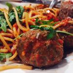 Meat balls with spaghetti!