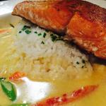Salmon with mashed potatos! Super Special!