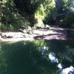 We swam in this beautiful river. Such beauty all around.