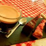 Café Gourmand with this amazingly lemony macaron