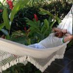 relaxing  on the veranda hammock