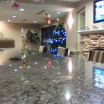 a view of the lobby area from the breakfast bar