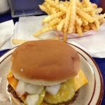 Cheeseburgers and fries YUM!!