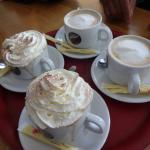 Hot choc and coffees