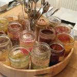 Jam selection at breakfast