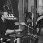 autres soirées avec ici Valentin Martel (batterie) et André Wentzo (contrebasse)