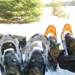 Snowshoeing on one of their trails