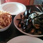 Moules Frites with Truffle Fries