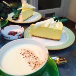 Just heavenly! Peppermint white hot chocolate & mango and white chic parfait