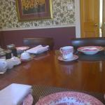 Dining Room and table set for breakfast