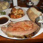 Prime rib and scallops