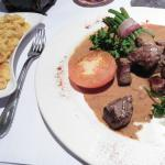 Dice of Angus beef served with homemade späzle