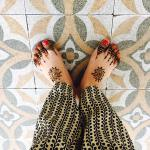 Got Mendhi done. I love the outdoor tile