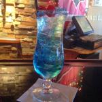 """The specialty cocktail """"Northern Lights"""" Isn't the color FABULOUS???"""