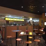 Inside the restaurant!