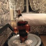 Champagne in our room