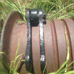 Take-up chain reel at Creque Marine Railway