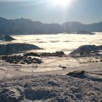 La vue sur l'alpe d'Huez