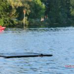 Waginger See mit befestigter Plattform