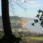 Sidmouth Sea-front from Peak Hill Road