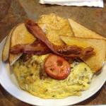 Brisket Omelet with Side of Bacon
