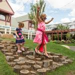 New playscape features in the Courtyard