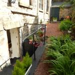 Side garden at the Old Schoolhouse B&B