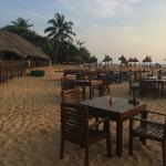 Ask for table on the sand...