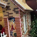 Huge Gingerbread house in the lobby!  Really cool!!